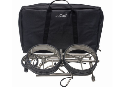 JuCad Titan and its robust carry bag.
