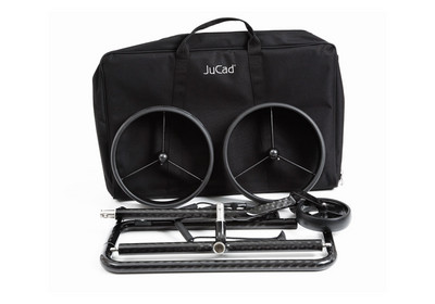 JuCad Carbon and its robust carry bag.JuCad Carbon and its robust carry bag.