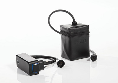 All JuCad electric trolleys come with a very compact JuCad Powerpack and a small handy charger. The battery contains an energy recuperation system.