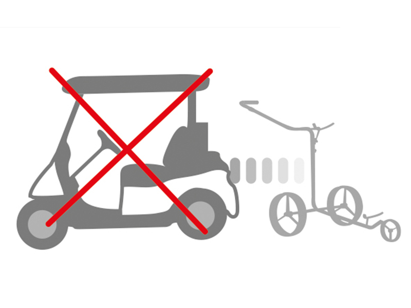 Do not pull your electric trolley with a golf cart.