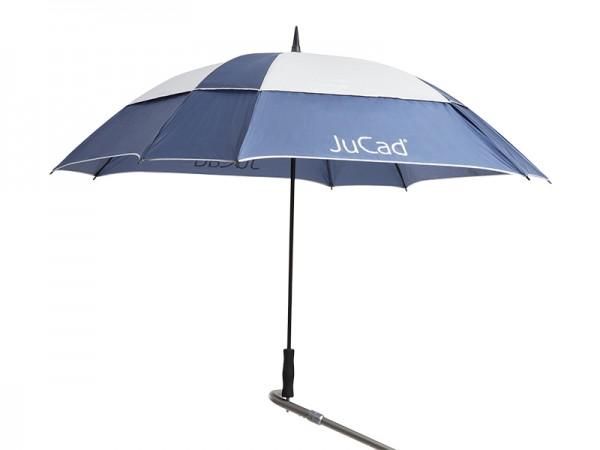 JuCad Schirm Windproof mit Stift blau-silber
