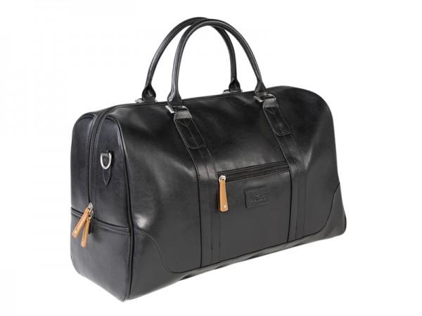 JuCad Reisetasche Sydney schwarz-braun