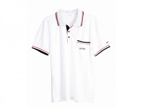 JuCad Poloshirt Herren weiß-rot-schwarz