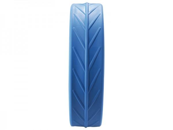 Pneu JuCad en bleu, roue arrière