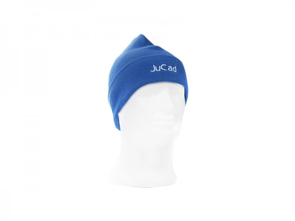 JuCad winter hat blue with white logo