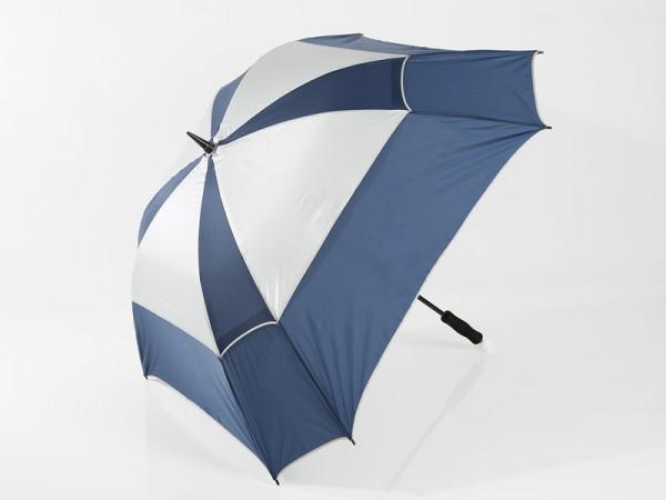Parapluie télescopique JuCad Windproof, bleu-argent
