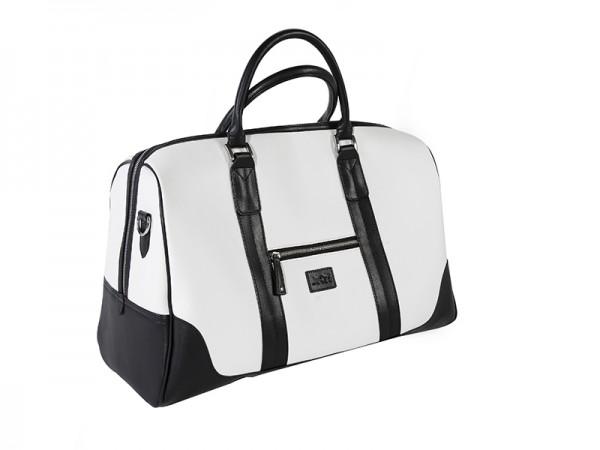 JuCad Reisetasche Sydney schwarz-weiß